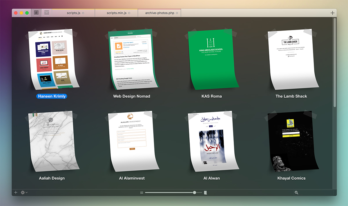 Coda App Sites for Mac OS X