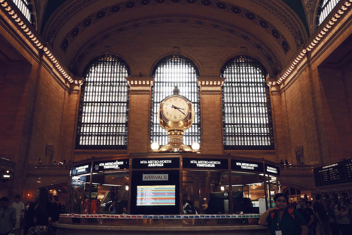A photo taken inside of the Grand Central Terminal – NYC 2014