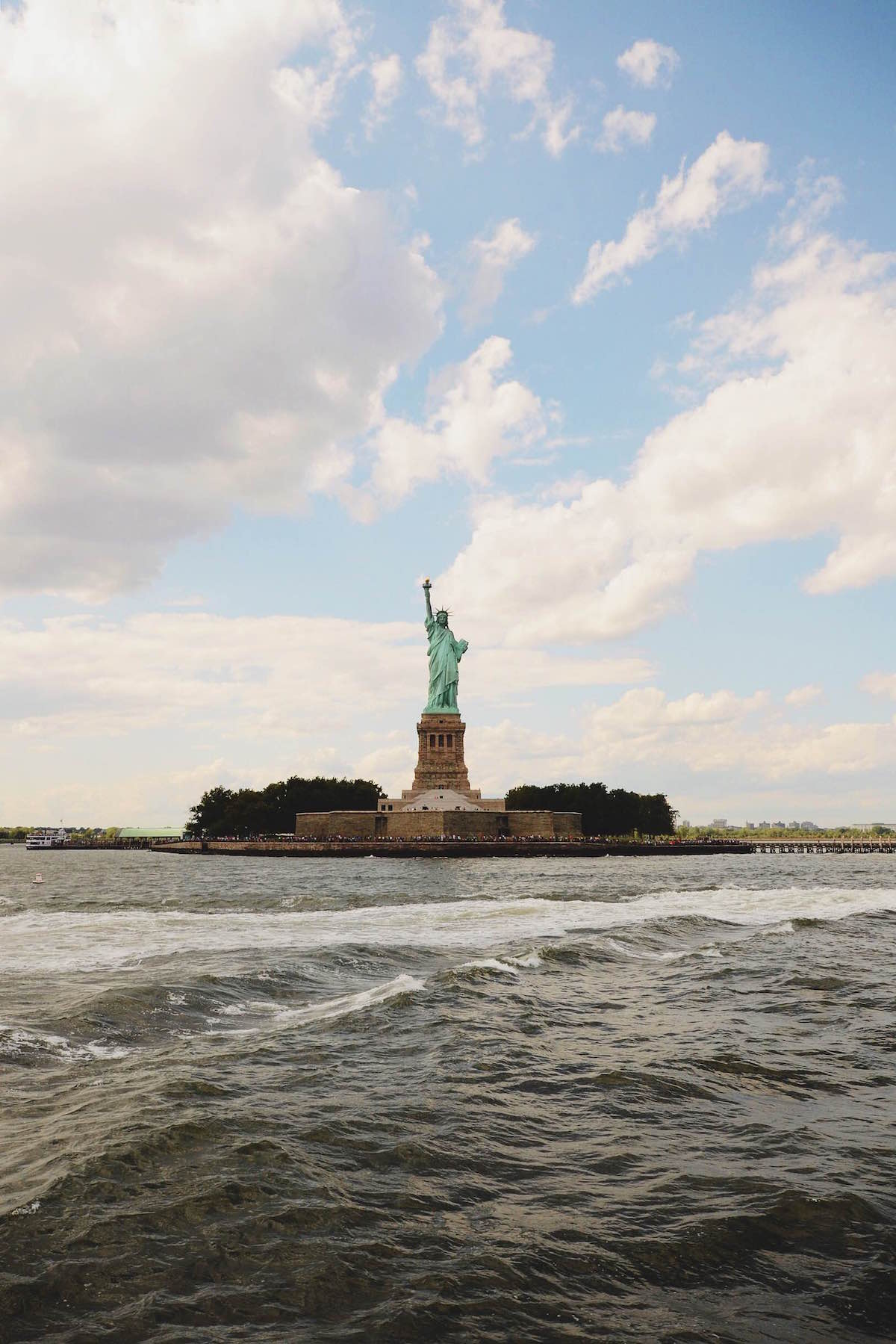 A photo of the Statue of Liberty on Liberty Island – NYC 2014