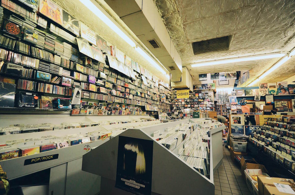 A photo of the inside of a small record store in New York City – NYC 2014
