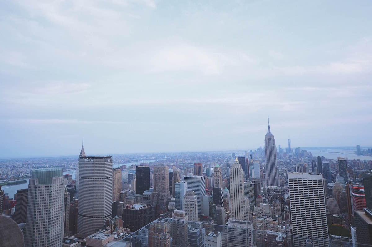 A photo taken at the top of The Rock building showing New York City – NYC 2014